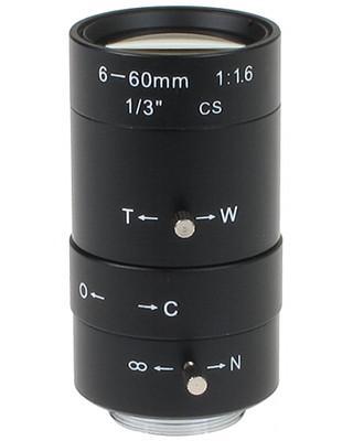 OBIEKTYW ZOOM CS-6-60 6 ... 60 mm