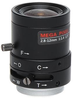 OBIEKTYW ZOOM IR MEGA-PIXEL 13CS30-2812/M 2.8 ... 12 mm