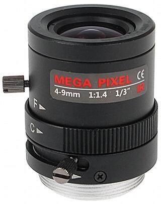 OBIEKTYW ZOOM IR MEGA-PIXEL 13CS30-4009/M 4 ... 9 mm