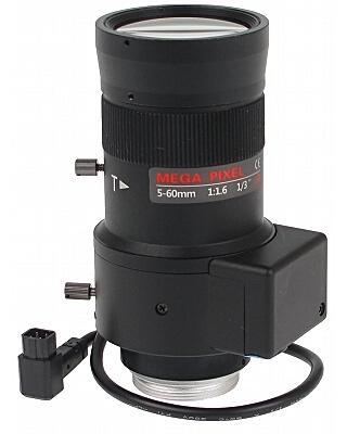 OBIEKTYW ZOOM IR MEGA-PIXEL 13CS30-5060/DC 5 ... 60 mm DC