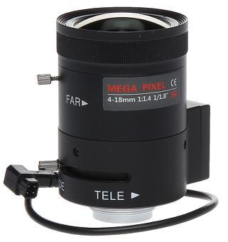 OBIEKTYW ZOOM IR MEGA-PIXEL 20C18-4018/DC 4 ... 18 mm DC