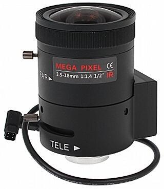 OBIEKTYW ZOOM IR MEGA-PIXEL 20C20-3518/DC 3.5 ... 18 mm DC