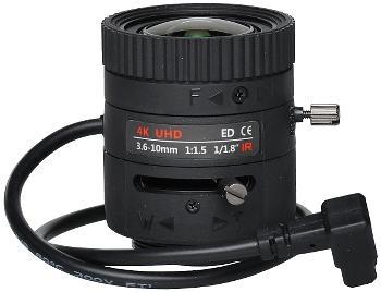 OBIEKTYW ZOOM IR MEGA-PIXEL 80CS18-3610/P 4K UHD 3.6 ... 10 mm P
